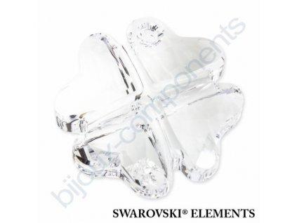 SWAROVSKI ELEMENTS přívěsek - Čtyřlístek, crystal, 28mm