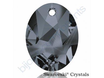 SWAROVSKI CRYSTALS přívěsek - Kaputt Oval, crystal silver night, 26mm