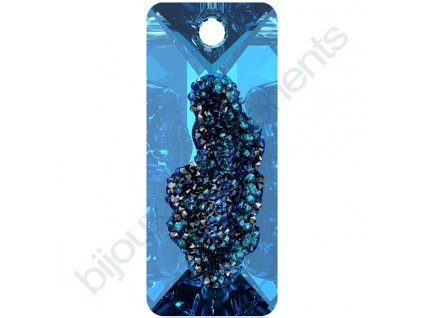 SWAROVSKI CRYSTALS přívěsek - Growing Crystal Rectangle, crystal bermuda blue, 26mm
