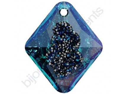 SWAROVSKI CRYSTALS přívěsek - Growing Crystal Rhombus, crystal bermuda blue, 26mm