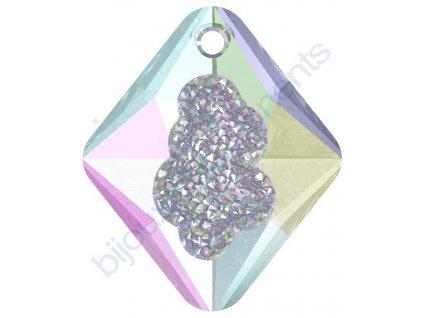 SWAROVSKI CRYSTALS přívěsek - Growing Crystal Rhombus, crystal vitrail light, 26mm