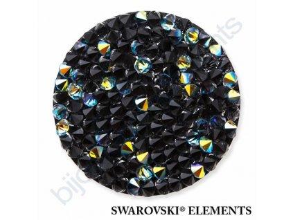 SWAROVSKI ELEMENTS - Crystal rocks, černý, crystal AB, 30mm