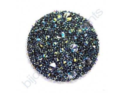 SWAROVSKI CRYSTALS - Crystal Medley, černý, crystal AB, 30mm