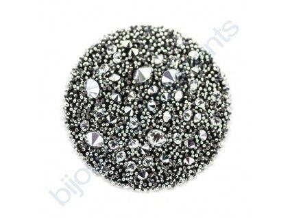 SWAROVSKI CRYSTALS - Crystal Medley, černý, crystal CAL, 30mm