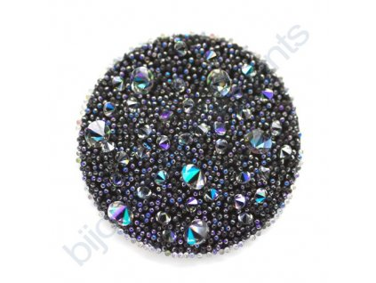 SWAROVSKI CRYSTALS - Crystal Medley, černý, crystal paradise shine, 30mm