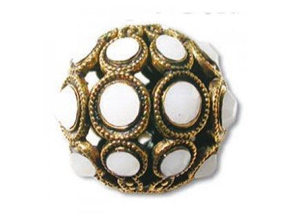 Šatonové kuličky s kameny SWAROVSKI ELEMENTS, cca 8mm