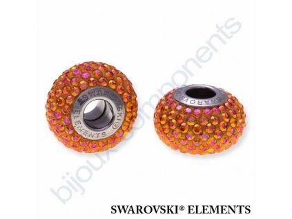 SWAROVSKI ELEMENTS BeCharmed Pavé s xilion šatony - shining curry/crystal astral pink steel, 14mm