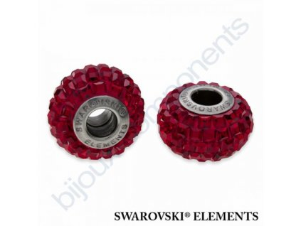 SWAROVSKI ELEMENTS BeCharmed Pavé s xilion square fancy stone - shining red/siam steel, 15mm