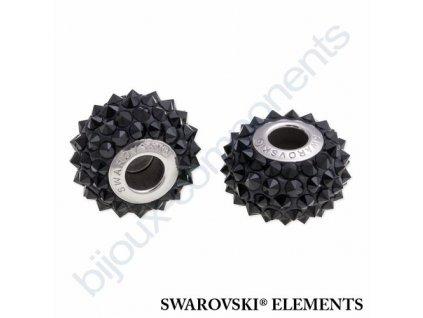 SWAROVSKI ELEMENTS BeCharmed Pavé spikes - black/jet steel, 16mm