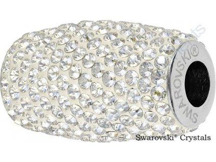SWAROVSKI ELEMENTS BeCharmed Pavé column - white/crystal moonlight steel, 22mm