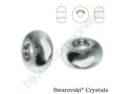SWAROVSKI BeCharmed Pavé Stopper, steel, 12mm