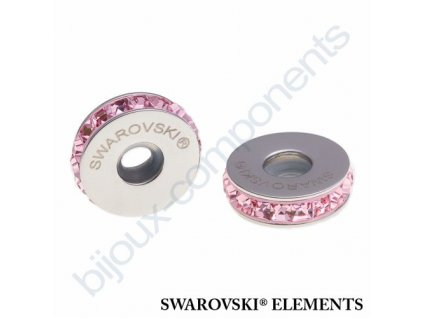 SWAROVSKI ELEMENTS BeCharmed Pavé Stopper s xilion square fancy stone - rose/light rose steel, 13mm
