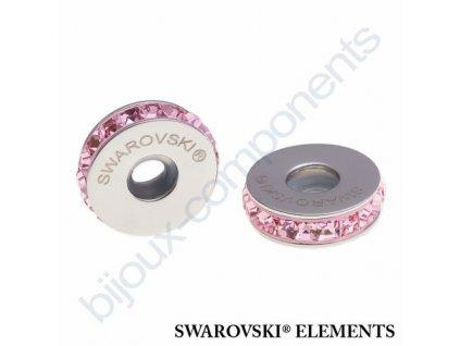 SWAROVSKI ELEMENTS BeCharmed Pavé Stopper s xilion square fancy stone - rose/light rose steel, 13mm