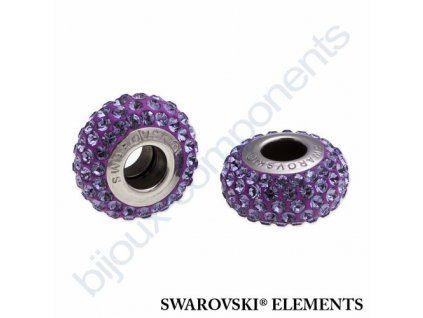 SWAROVSKI ELEMENTS BeCharmed Pavé slim - purple/tanzanite steel, 13,5mm