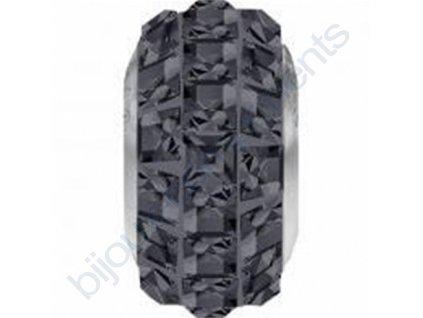 SWAROVSKI ELEMENTS BeCharmed Pavé slim - crystal silver night steel, 13mm