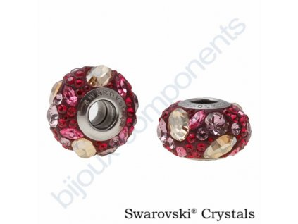 SWAROVSKI ELEMENTS BeCharmed Pavé - burgundy/gold.shadow,ruby,ant.pink steel, 15mm