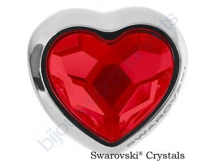 SWAROVSKI CRYSTALS BeCharmed Heart Bead - light siam, 14mm