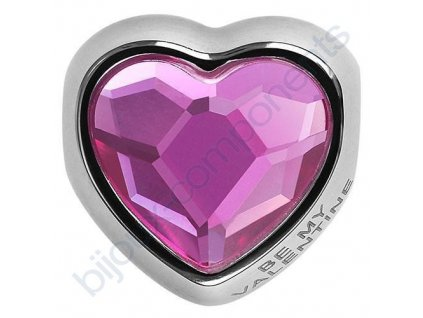 SWAROVSKI CRYSTALS BeCharmed Heart Bead - fuchsia, 14mm