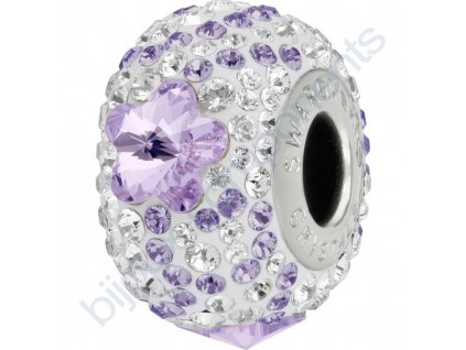SWAROVSKI CRYSTALS BeCharmed Pavé - white/violet, tanzanite, crystal, steel, 14mm