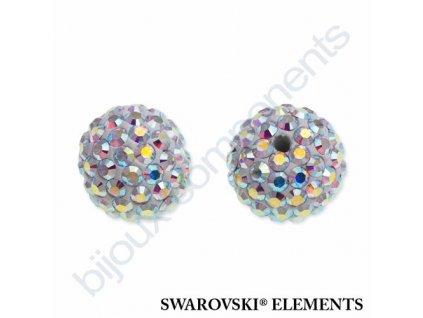 SWAROVSKI ELEMENTS Pavé korálky - white/crystal AB, 10mm