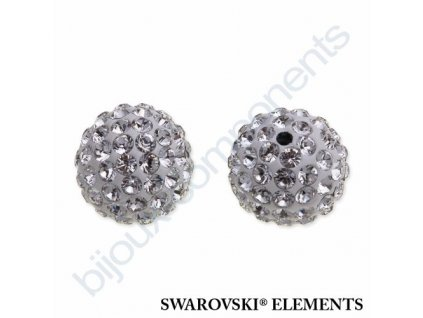 SWAROVSKI ELEMENTS Pavé korálky - white/crystal, 10mm