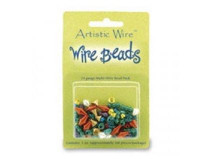 Ozdoby z uměleckého barevného drátu - korálky