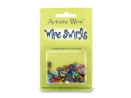Ozdoby z uměleckého barevného drátu - spirálky