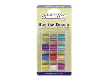 Umělecké barevné dráty - leské