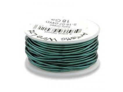 Umělecký barevný drát - zelený (kelly green)