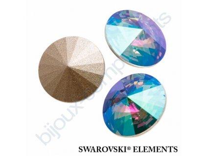 SWAROVSKI ELEMENTS kameny - Rivoli Chaton, crystal paradise shine F, SS47 (cca 10mm)