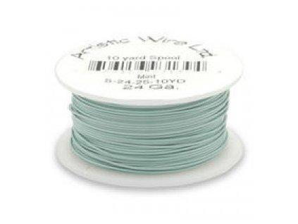Umělecký barevný drát - mint