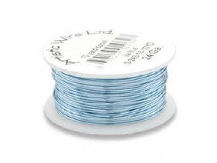 Umělecký barevný drát - ledově modrý