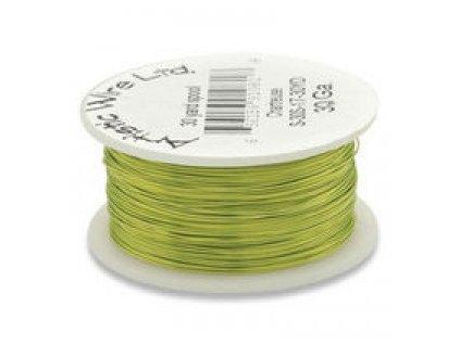Umělecký barevný drát - světle zelený