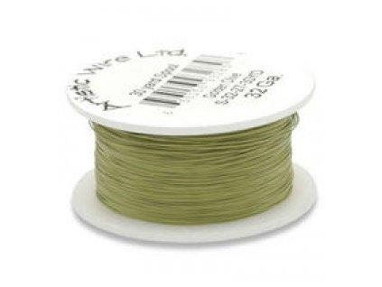 Umělecký barevný drát - olivový