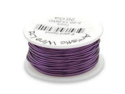Umělecký barevný drát - fialový