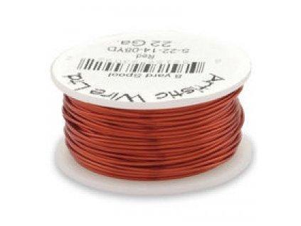 Umělecký barevný drát - červený