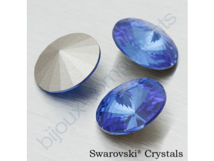 SWAROVSKI CRYSTALS Rivoli - sapphire F, SS47 (cca 10mm)