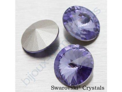 SWAROVSKI ELEMENTS kameny - Rivoli Chaton, tanzanite F, SS47 (cca 10mm)