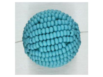 Perle ručně obšívané rocaily, cca 18mm