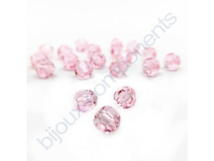 PRECIOSA - MC Bead Round, Light rose, cca 4mm