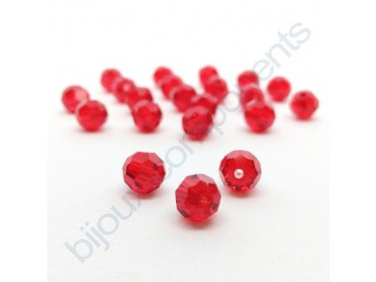 PRECIOSA - MC Bead Round, Light siam, cca 4mm