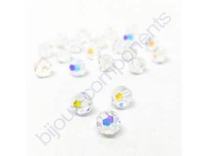 PRECIOSA - MC Bead Round, Crystal AB, cca 6mm