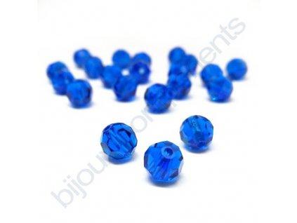 PRECIOSA - MC Bead Round, Capri blue, cca 6mm