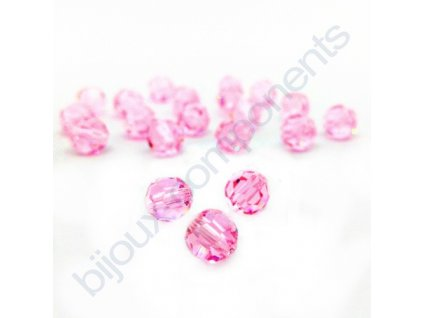 PRECIOSA - MC Bead Round, Rose, cca 6mm