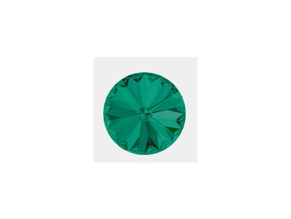 SWAROVSKI ELEMENTS kameny - Rivoli Chaton, emerald F, SS29 (cca 6mm)