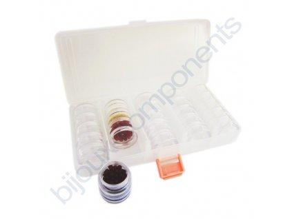 Plastový organizér se šroubovacími dózami, 25 dílů