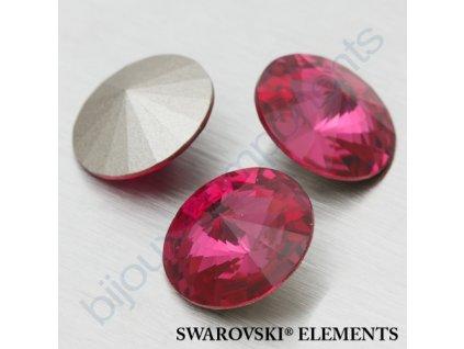 SWAROVSKI ELEMENTS kameny - Rivoli Chaton, fuchsia F, SS39 (cca 8mm)