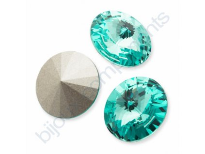 SWAROVSKI ELEMENTS kameny - Rivoli Chaton, light turquoise F, SS39 (cca 8mm)
