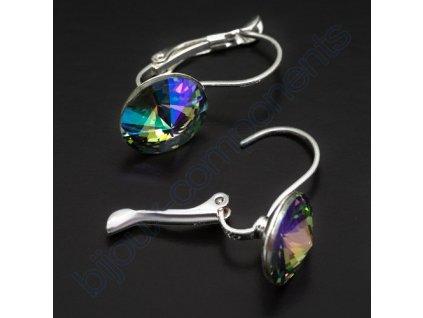 Náušnice s kameny Swarovski crystals, rivoli 1122, crystal paradise shine / postříbřené komponenty