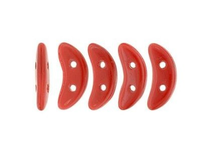 CzechMates Crescent, Opaque Red, 3x10 mm, 24ks